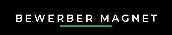 Bewerbermagnet logo weiß